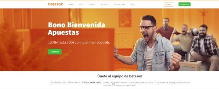 Bono Bienvenida Betsson