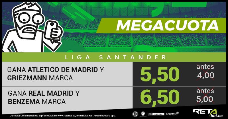 RETAbet Megacuota Atlético de Madrid Real Madrid