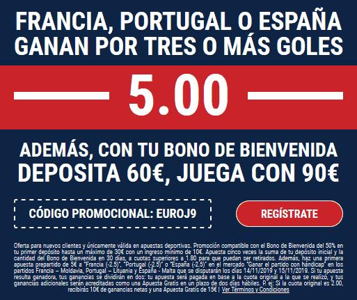 Marathonbet Portugal Francia España portada