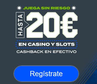 Codere 20€ casino sin riesgo portada
