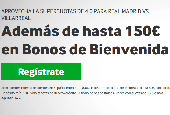 Betway Real Madrid Villarreal portada
