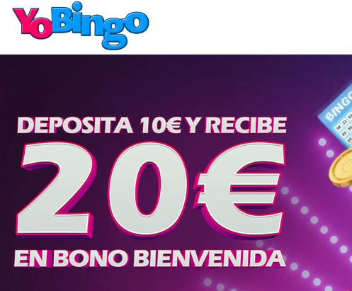 YoBingo Bono de hasta 100€ regalo bingo portada