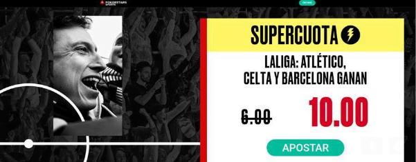 BetStars Atletico Celta y Barcelona ganan