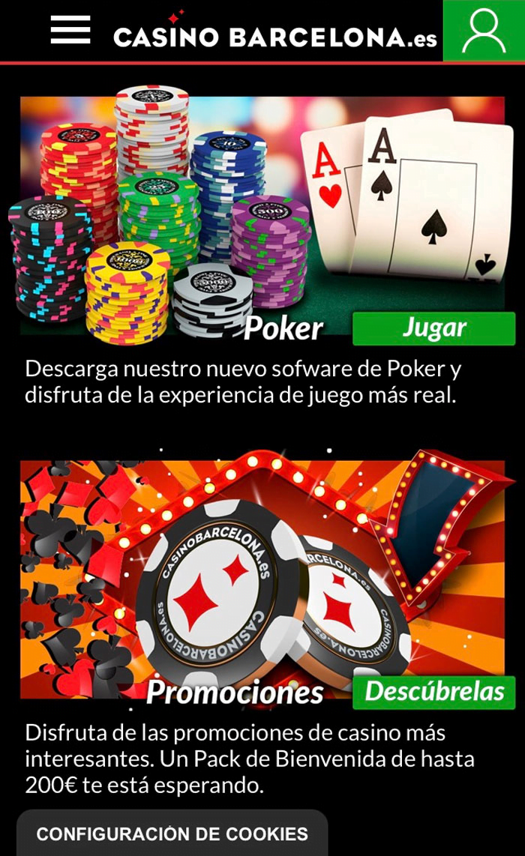 200€ + 3 Twister: Pack de Bienvenida Póker en la App Casino Barcelona