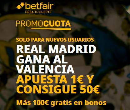 Betfair Valencia Real Madrid portada