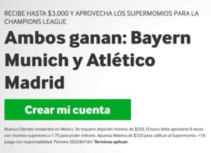 Betway Bayern y Atletico ganan portada