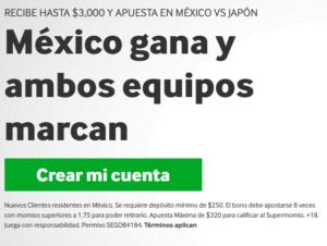 Betway Mexico Japon portada