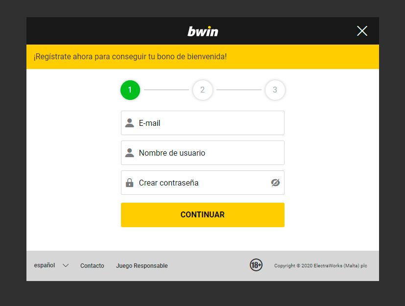 registro en la casa bwin