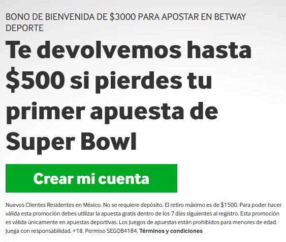 Betway MX Super Bowl portada