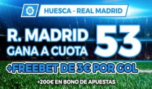 Megacuota Paston Huesca Real Madrid