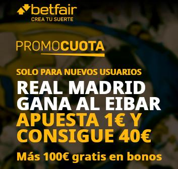 Betfair Real Madrid Eibar portada