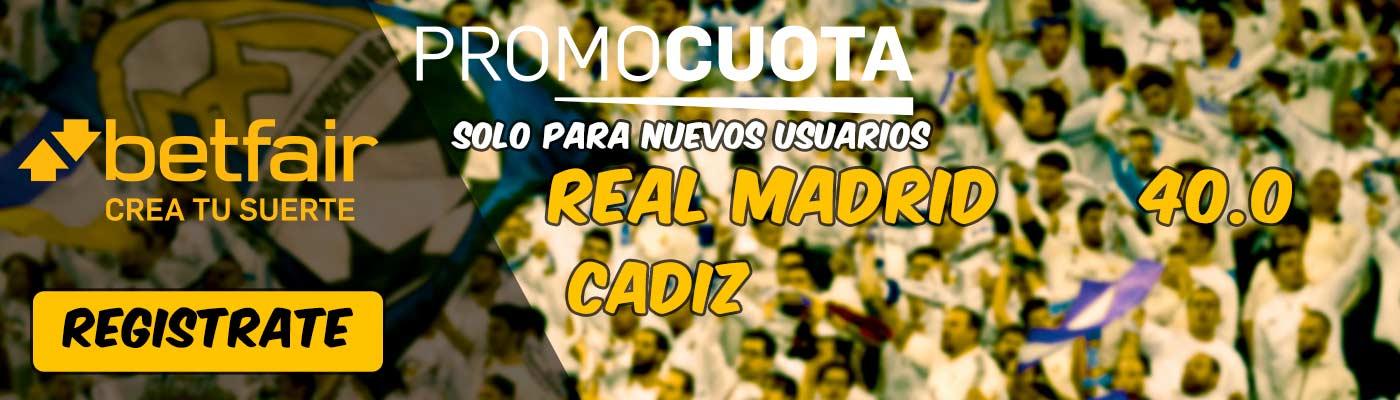 Sueprcuota betfair Real Madrid