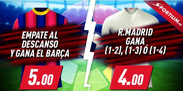 Sportium cuotones Barcelona Real Sociedad y Alaves Real Madrid