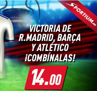 Sportium Madrid Barcelona y Atletico portada